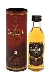 Виски Glenfiddich Malt Scotch Whisky 15 Y.O. 0.05 л