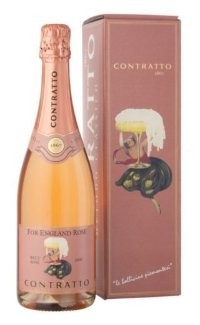 Игристое вино Contratto For England Rose Brut VSQ 2008 0.75 л